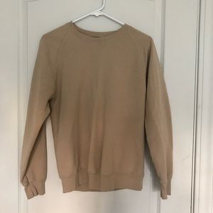 Brandy Melville / John galt tan crew neck sweater